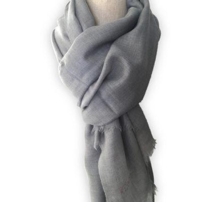 echarpe pashmina authentique gris bleu
