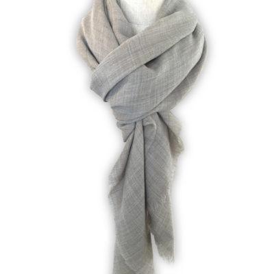 grande echarpe gris taupe cachemire