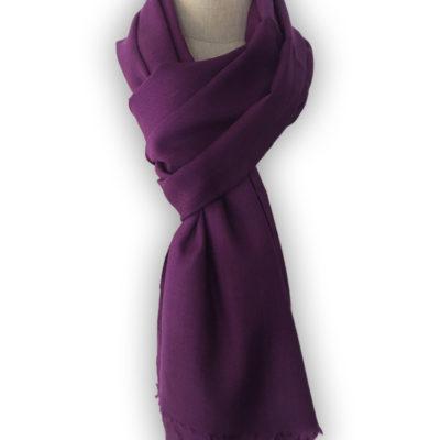 echarpe cachemire violette