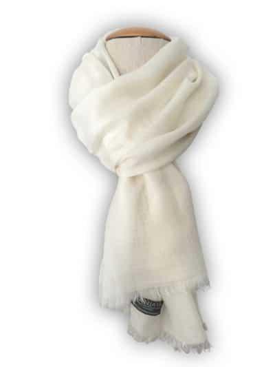 écharpe cachemire blanc cassé enfant