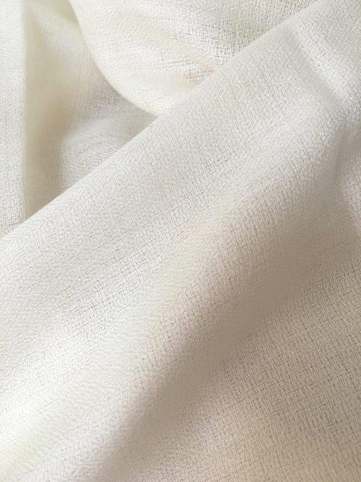 laine cachemire Blanc cassé ecru