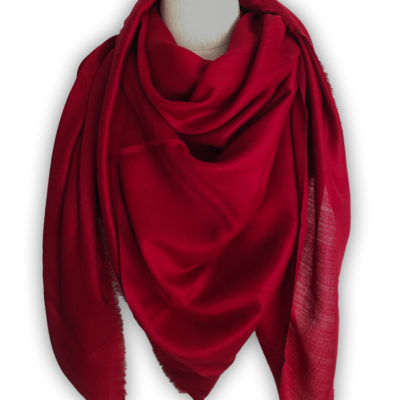 châle cachemire rouge carré