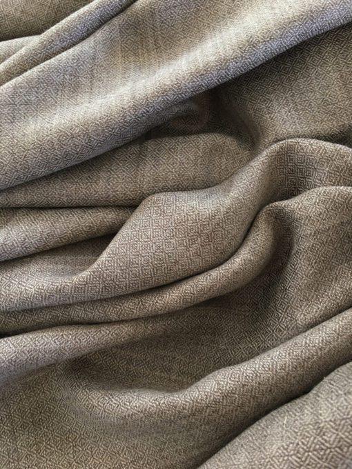 laine cachemire gris taupe