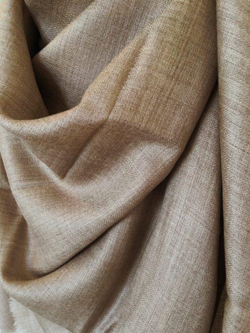 laine cachemire muscade brun