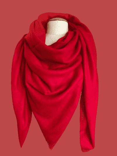 pashmina cachemire rouge vif